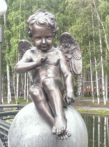 Парк, г.Ханты-Мансийск Sculpture Park Angel My Town Siberia скульптура мойгород