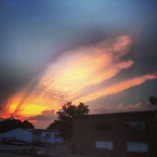 Sky Sun Sunset Wolken himmel clouds sonnenuntergang picoftheday photographer instagood iphonesia