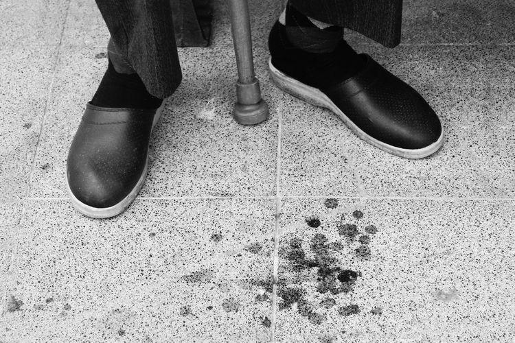 Monochrome Photography Person Shoe Men Human Foot Standing Street Day Monochrome Elderlyman Elderly Photo Blackandwhite Turkey