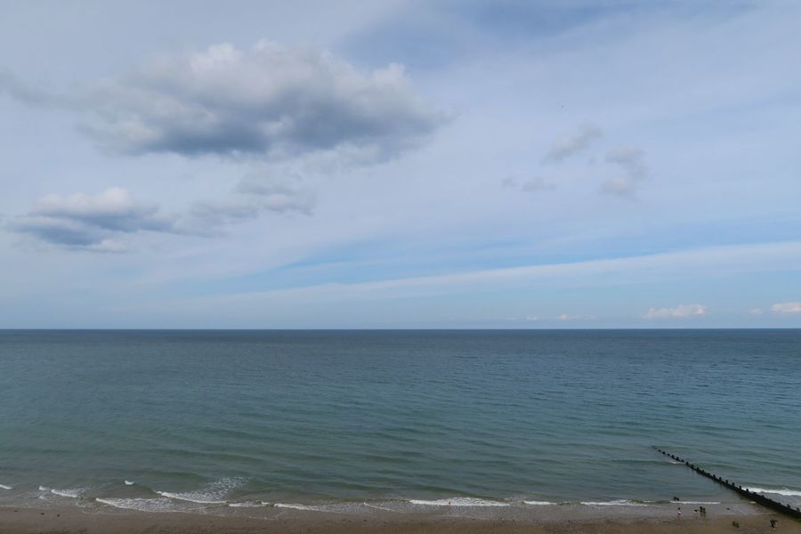 Sea Beach Water Sand Nature Tranquility Horizon Over Water Tranquil Scene Cloud - Sky Beauty In Nature Wave Outdoors No People Scenics Dramatic Sky Beauty In Nature Landscape Summer Seaside Cromer Cromer Beach Sunlight Norfolk Freshness Nature