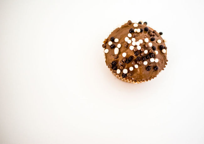 Brown Close-up Cupcakes Cut Out Indulgence Nature No People Still Life Studio Shot White White Background