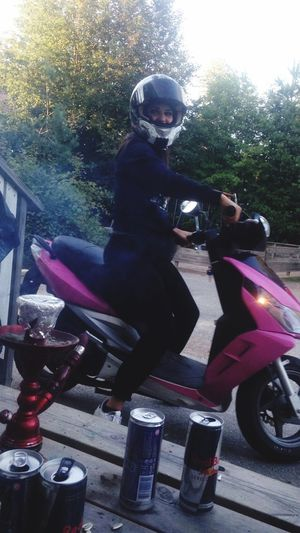 Pink Moped Fun