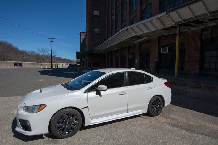 2017 Subaru WRX Car City Day Mode Of Transport No People Outdoors Transportation White Crystal Pearl