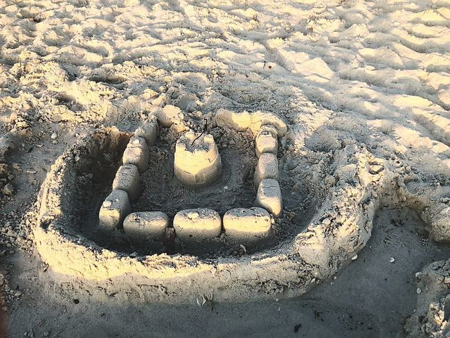 Castles in the sand Play Time Sand Castle Sand Castle Communication Day Outdoors Sand No People