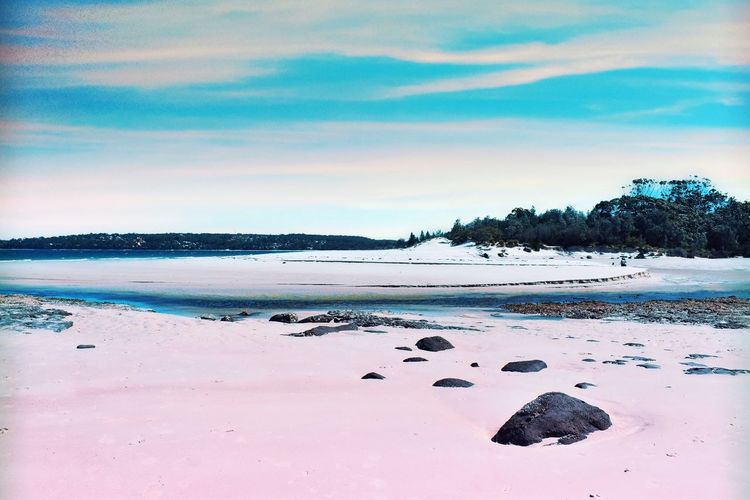 Pinky Beach EyeEm Selects Photography EyeEm EyeEm Gallery Picoftheday Outdoors Water Sky Land Sea Beach Tranquility Cloud - Sky Beauty In Nature Tranquil Scene No People Scenics - Nature Nature Day Sand Idyllic Solid Tree Non-urban Scene Rock