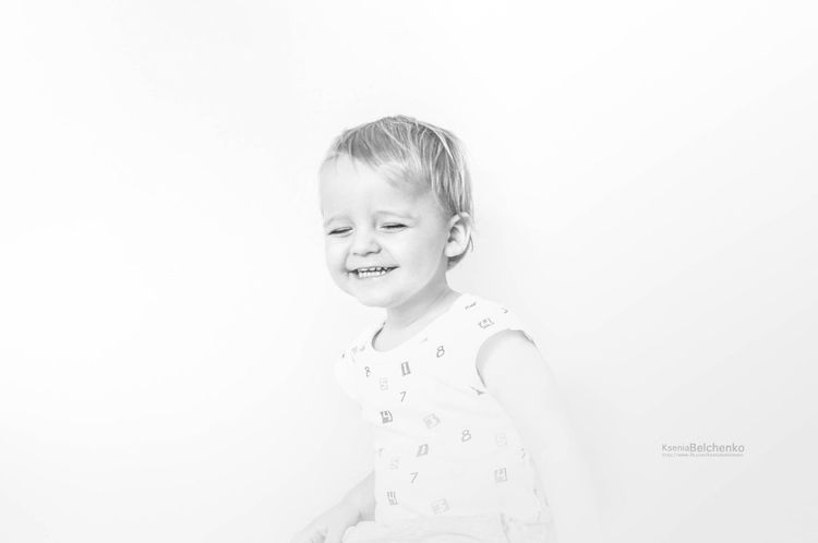 Happiness Beauty Childhood White Background Smiling Happiness People Day Photos Emotions Children Photo Beautiful Children Only Portraits Young Adult Baby Indoors  Lifestyles Real People Blond Hair Boy Child Black And White