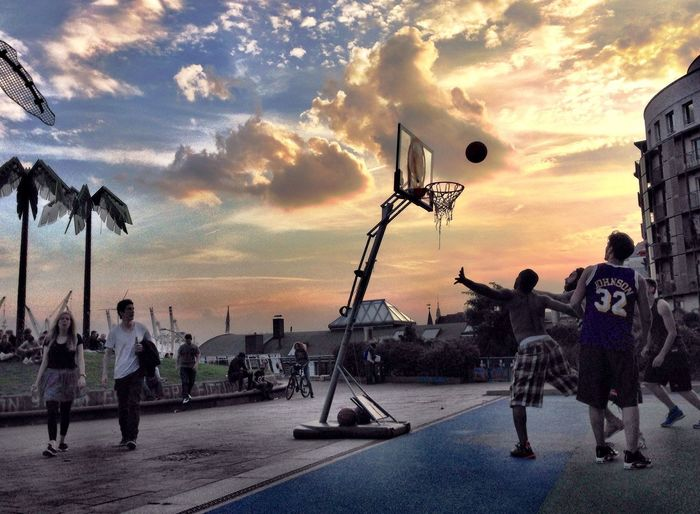 Urban Escape Basketball Hanging Out Sunset