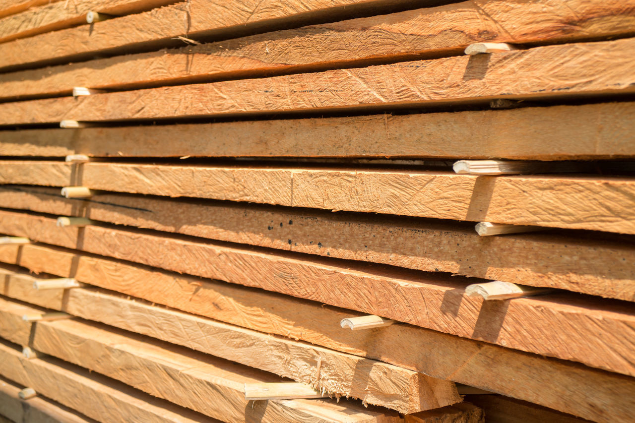 wood - material, full frame, stack, brown, backgrounds, textured, no people, close-up, day, indoors