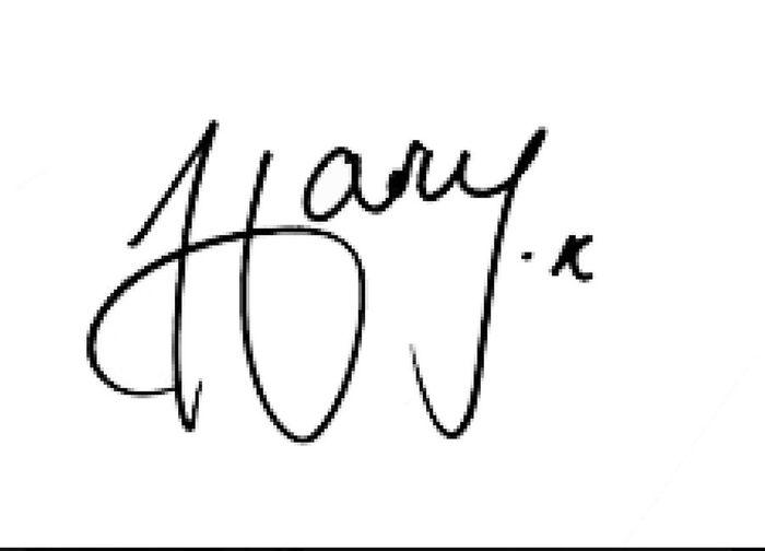 La firma di Herry Styles!!