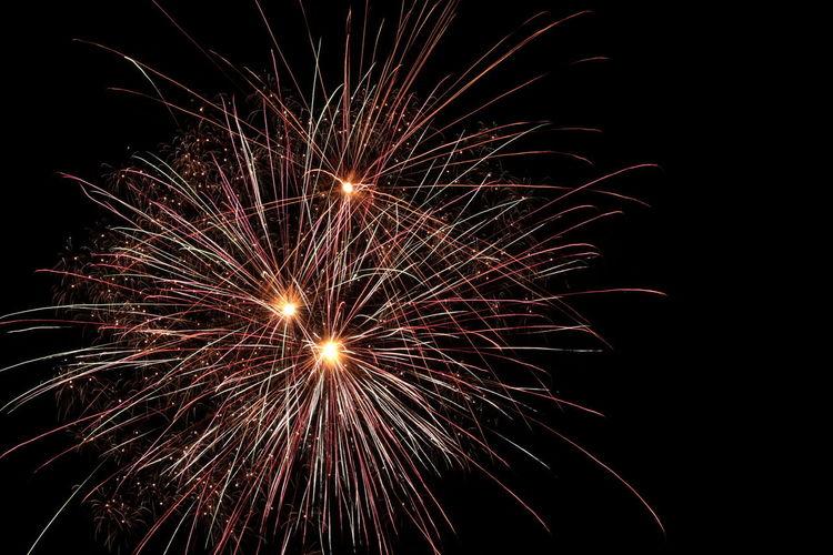 fireworks on