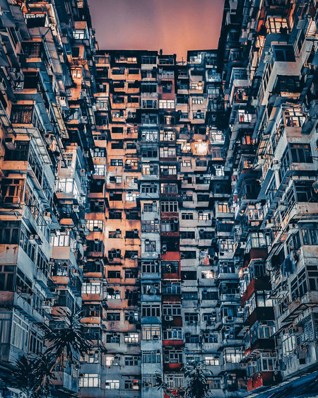 Full frame shot of residential building against sky