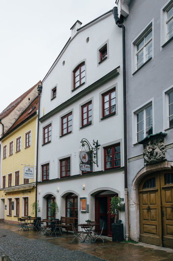 Typical bavarian town near the Alps Alps Alpsee Architecture Bavaria Bavarian Alps Building Exterior Built Structure City Life Day Façade Füssen Füssen, Bayern, Deutschland No People Outdoors Residential Building Residential District Sky Tranquility Travel Typography Window