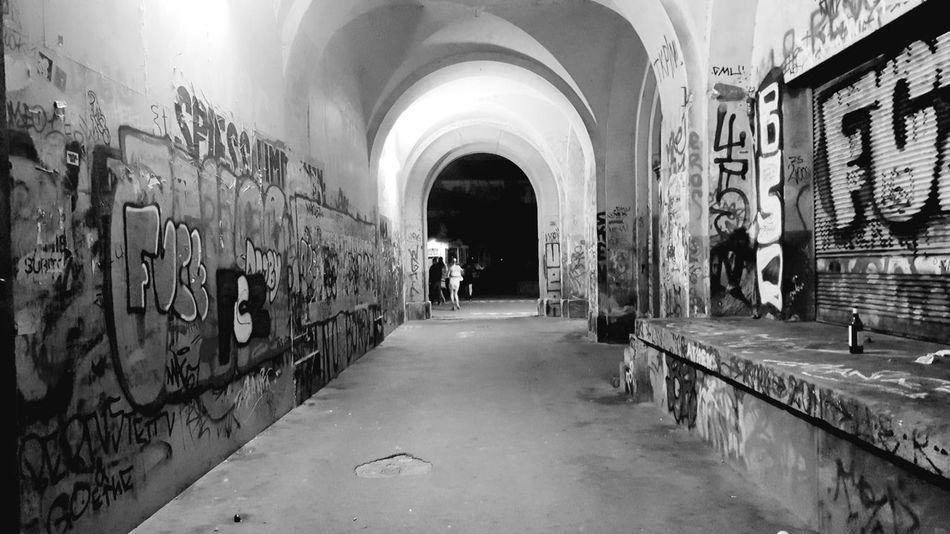Zürich At Night Tunnel Painting Alte Kaserne