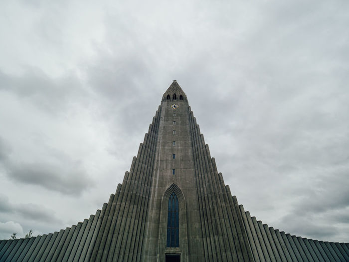 Architecture Building Exterior Built Structure Cathedral Church City Cloud - Sky Day Epic History Iceland Low Angle View Low Angle View No People Outdoors Place Of Worship Reykjavik Sky Travel Destinations
