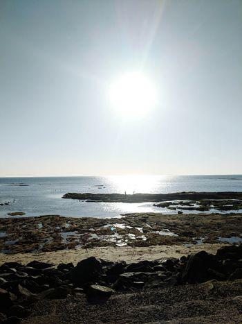 Google Pixel 2 Sun Sea Beach Horizon Over Water Sunlight Water Sky Nature Sunny Sunbeam Sunset Clear Sky Day Beauty In Nature