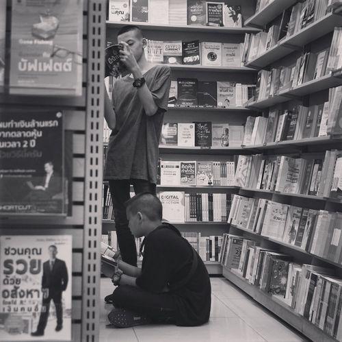 Read... Shelf People Indoors  Men Bookshelf Book Publication Looking