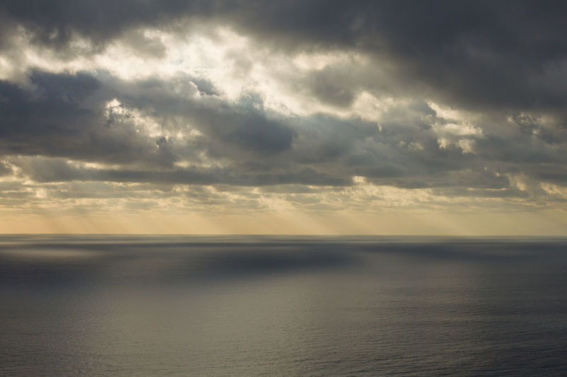 Cloud - Sky Sky Water Scenics - Nature Sea Tranquility Beauty In Nature Tranquil Scene Horizon Nature No People Horizon Over Water Overcast Storm Waterfront Dramatic Sky Remote