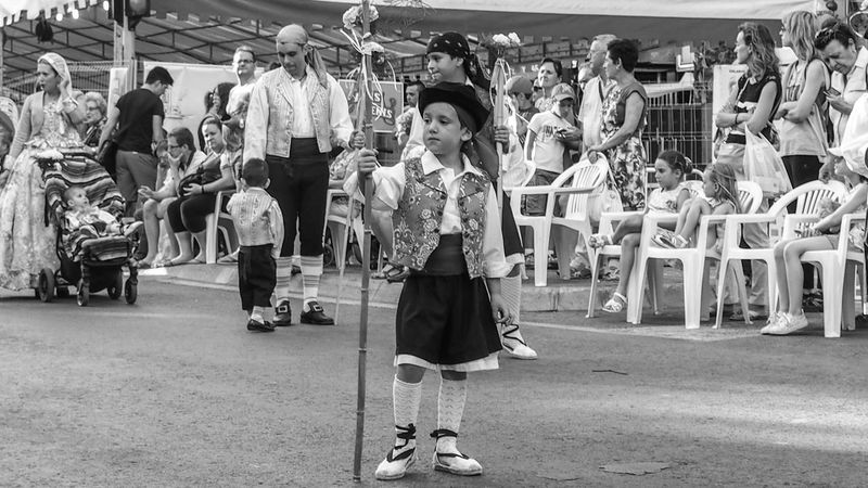 Black And White Photography Blackandwhite Blackandwhite Photography Casual Clothing City City Life Cultures Day Display Hogueras 2016 Hogueras Alicante Hogueras De S. Juan Leisure Activity Lifestyles Market Market Stall Outdoors Retail  Sale Shop Small Business Store