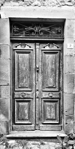 Doors Doorporn CORDES SUR CIEL Village France Blackandwhite Blackandwhite Photography #bnw Black And White Full Frame Protection Door Safety Closed Close-up Architecture Building Exterior Built Structure