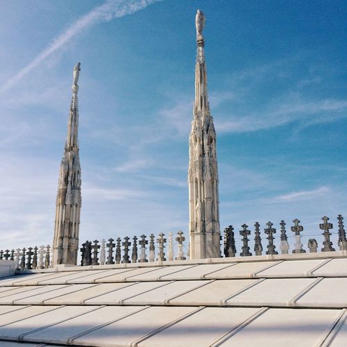 Milan cathedral against blue sky