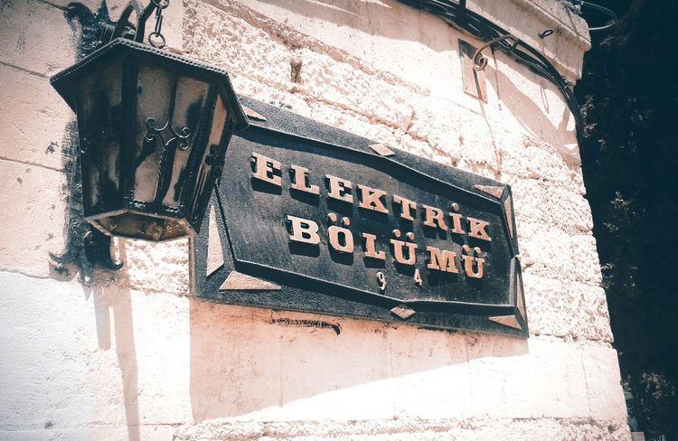 Elektrik bölü Elektrik Signboard Light Aarchitecture