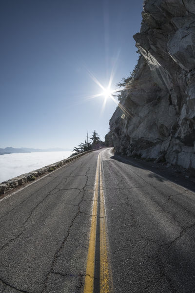 Life above the clouds. Tap on the link to see this shot in 360 degrees 💫. https://kuula.co/post/7lvcF Beauty In Nature Clear Sky Day Nature No People Outdoors Road Scenics Sky Sun Sunbeam Sunlight The Way Forward Tranquility Transportation