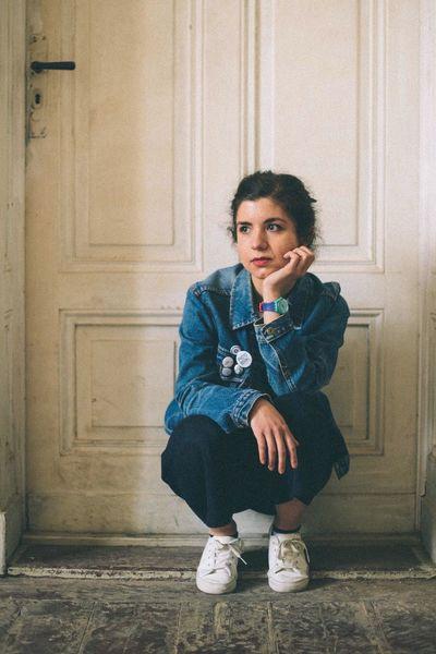 The Portraitist - 2016 EyeEm Awards Blue Jean Jacket Buttons Deep In Thought White Door Soft Light Portrait Friend Reflection