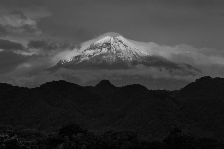 B&W Collection Orizaba Peak B&w Photography Beauty In Nature Environment Geology Landscape Mountain Mountain Peak Outdoors Snowcapped Mountain Volcanic Crater Volcano