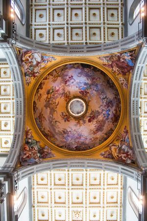 Florence Italy Travel Destinations Architecture History Dome Tourism Built Structure City Fresco No People Indoors  Day Library