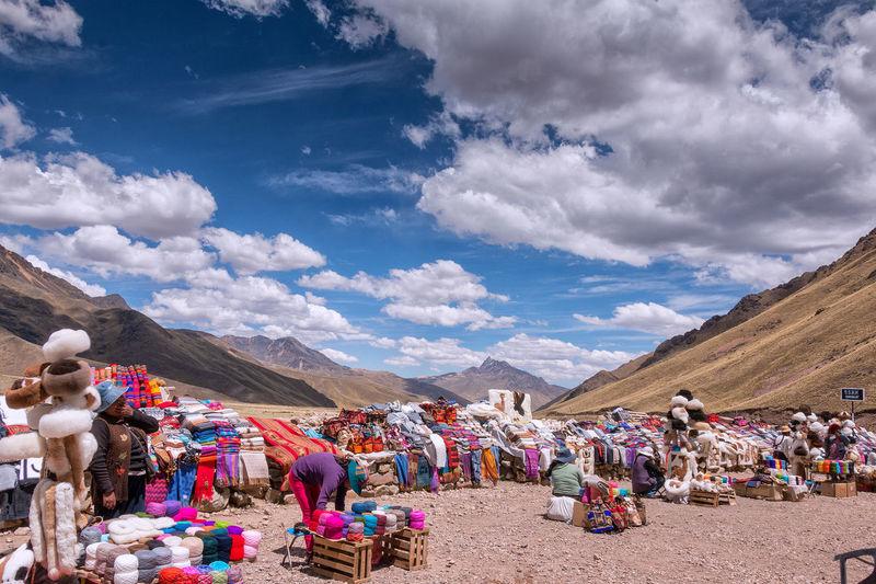 Mercado de artesanía inka en Abra La Raya #market #nubes #artesania #inkas #los Andes #montains #cordillera Mountain Traditional Festival Sky Cloud - Sky Mountain Range