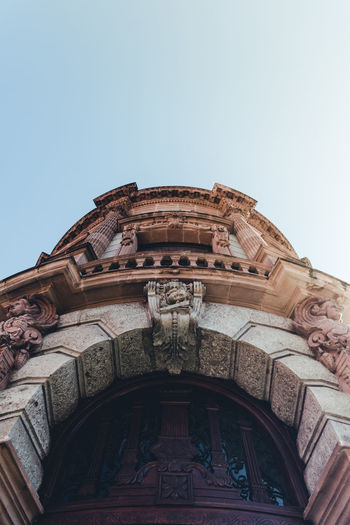 Look up. Arch Architecture Building Exterior Built Structure Clear Sky Day Low Angle View No People Outdoors Sky