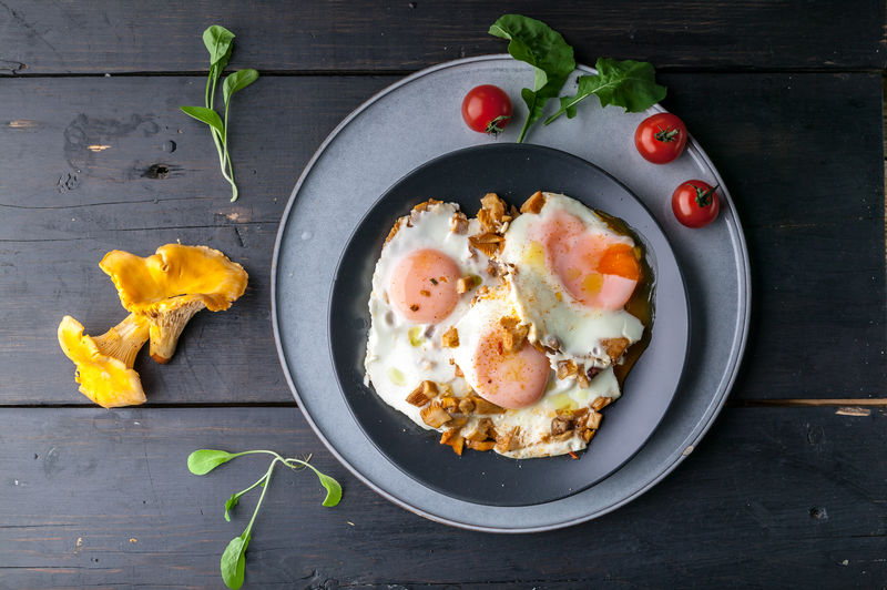 Fried eggs with