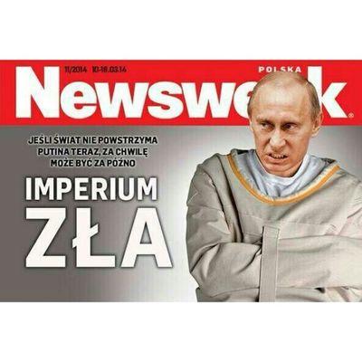 Обложка польского номера известного мирового издания NewsWeek SaveUkraine CrimeaInvasion нетвойне путин украина Россия Крым Polska