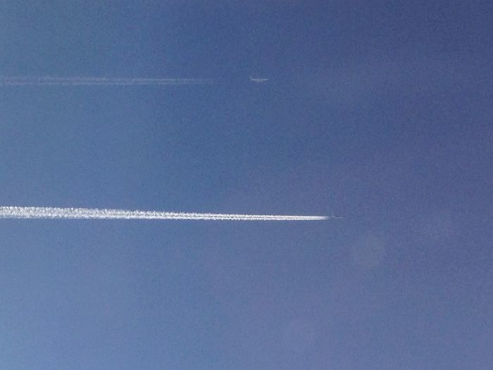 Sky Sky Line Airplane From An Airplane Window
