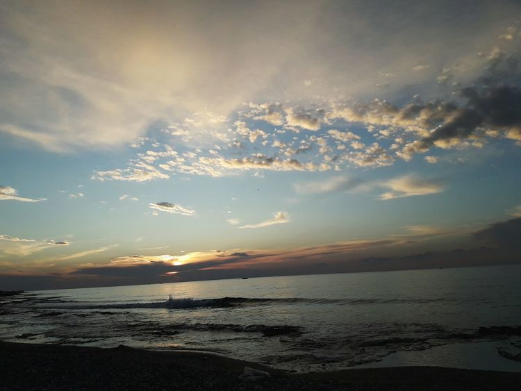 Sea And Sky Outdoors Sunset_collection Beauty In Nature Sunlight Wildlife & Nature Sky Life Outdoors Photograpghy  No People Sunset Nature Beach Clear Sky Blue