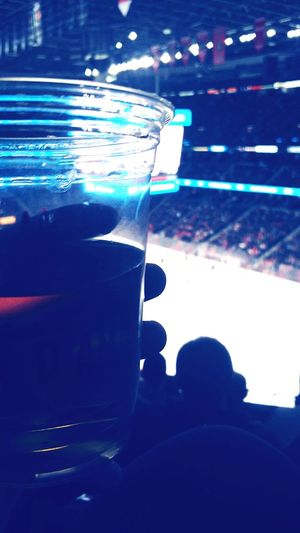 Beer, poutine and hockey! Can you be anymore Canadian? Hockey Game Canada Canada, Eh? Hockey Night With Beer!! NHL Hockey! Ottawa Edmonton First Eyeem Photo First Nhl Game