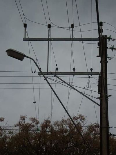 """""""Power to the People"""". Power Lines Sky Sky Lines . No People"""