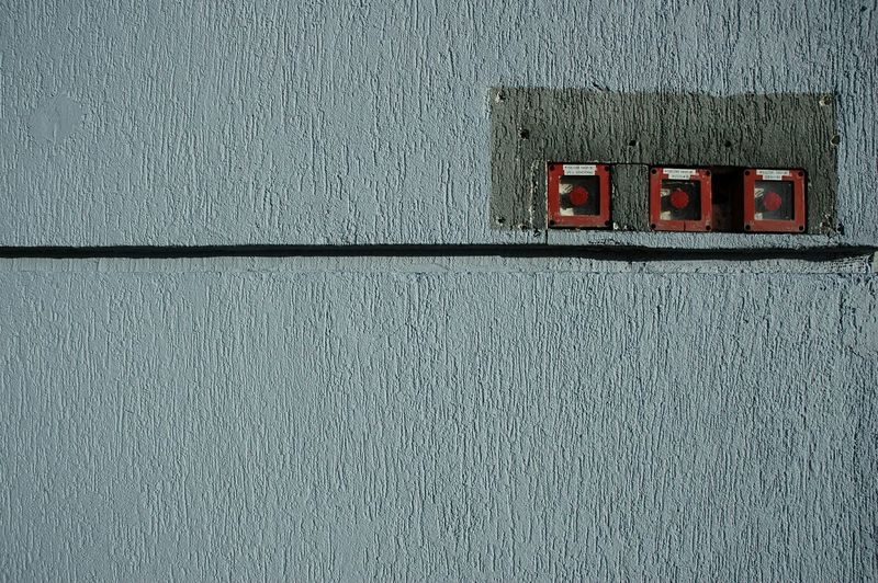 Fire Alarm Switches On Wall