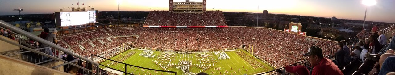 Memorial Stadium OU Football Norman Oklahoma Sky Oklahoma panorama Panorama Panoramic