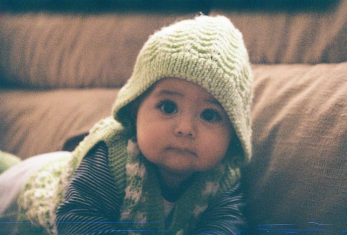Daylight Portrait Of Innocence Babygirl Baby Istanbul Turkey Nofilter Portrait Film Filmphotography Zenit12xp Kodakcolorplus200
