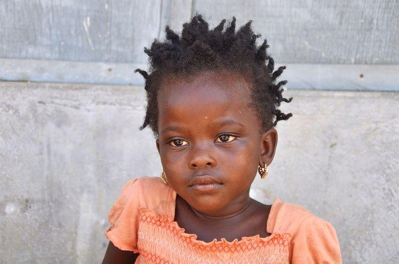 Close-up of cute girl