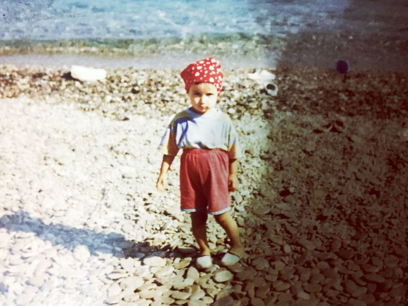 Childhood Red Children Only One Person Shadow Full Length Day Sunlight Freshness Sky Sun Blue Sea