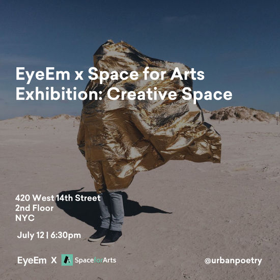 Photo Exhibition: Join us for an evening celebrating the winners of our 'Creative Space' Mission with Space For Arts. From more than 12,000 submissions in just one week, we'll exhibit the top 30 images. RVSP here → https://www.eventbrite.com/e/eyeem-x-space-for-arts-photo-exhibition-creative-space-tickets-47443377419