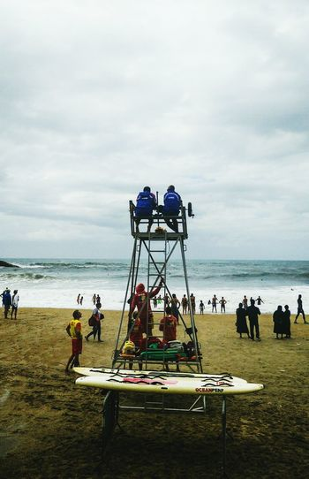 From My Point Of View Beach Sea France People Watching People Landes