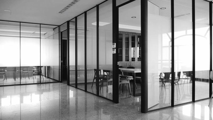 Interior of modern building