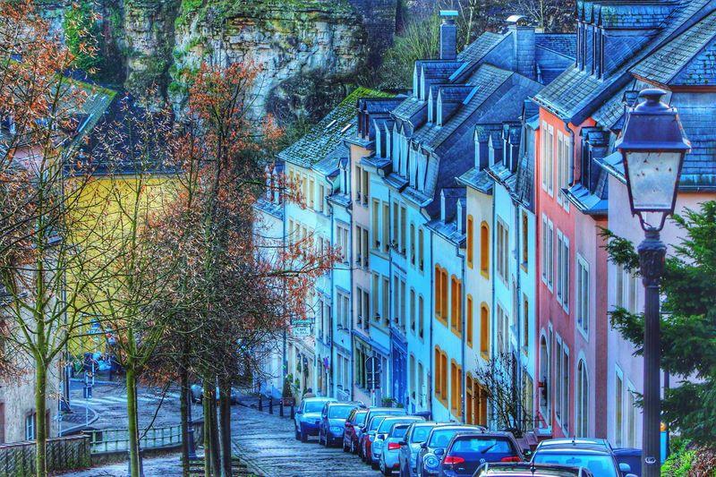 Luxembourg Landscape Urban Architecture Colorful Nature Winter Europe HDR Canon