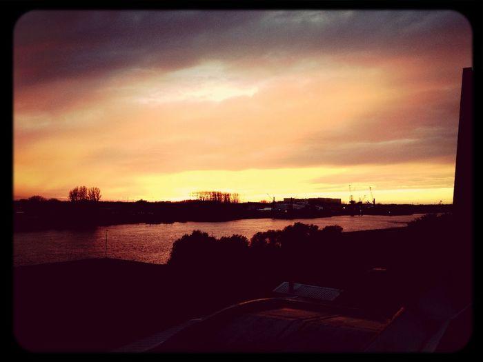 Sunset Weser Sonnenuntergang