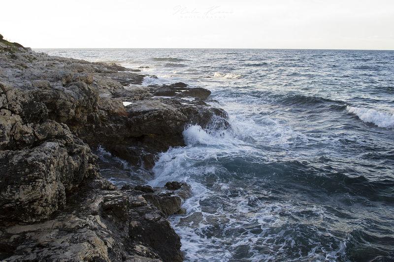 Croatia Beach Beachphotography Beauty In Nature Day Horizon Horizon Over Water Land Motion Nature Naturepower Outdoors Places Power In Nature Rock Scenics - Nature Sea Seascape Sky Splashing Verudela Water Waterfront Wave