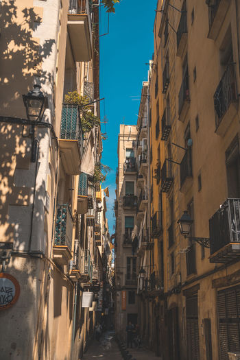 Old town streets in barcelona