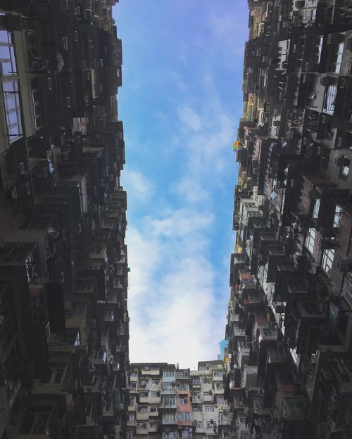 Building Exterior Built Structure Low Angle View City IPhoneography Urban Life Quarry Bay Dense